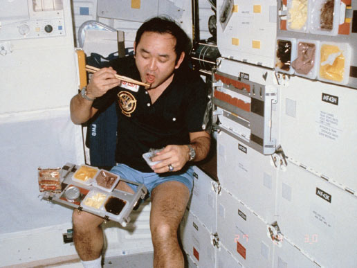 astronauts eating almonds in space - photo #18